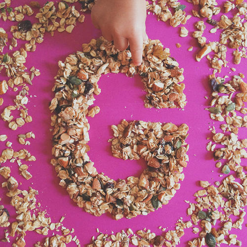 <p>G is for Granola.</p>