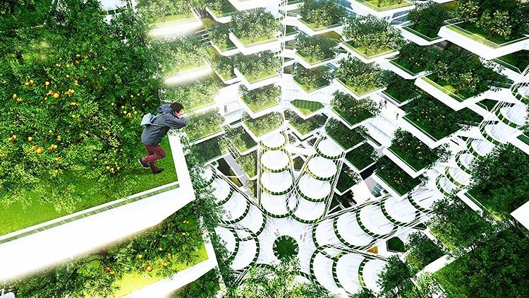 <p>The design would also capture rainwater and filter it through a constructed wetland before returning it to a nearby stream.</p>