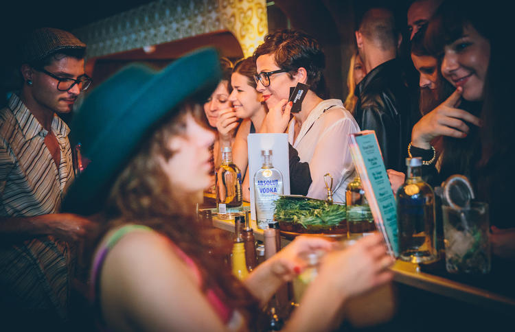 <p>Absolut vodka took off in the U.S. thanks to its presence in New York's Studio 54 back in the '80s, the beginning of its longstanding collaboration with musicians and artists.</p>