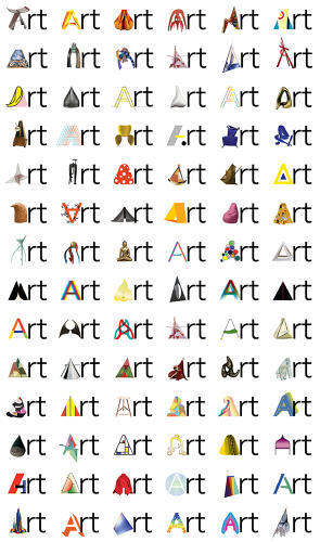 <p>The new identity features a series of unique designs for the logo's letter &quot;A&quot;, inspired art in the museum's collection.</p>