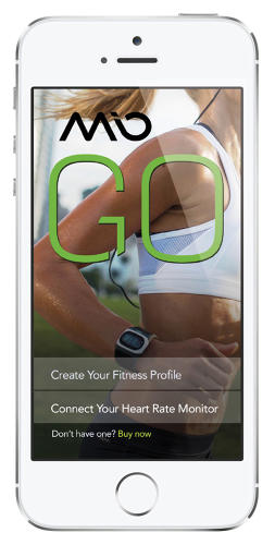 <p>The Mio GO app</p>