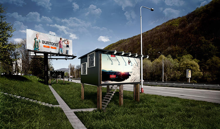<p>As in most cities, the highways around Banksa Bystrica in Slovakia are lined with ad billboards.</p>