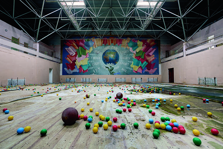 <p>An abandoned Russian sports hall</p>