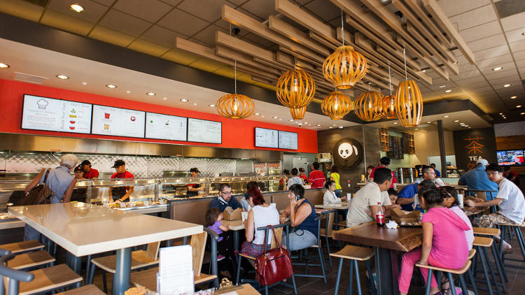 <p>Panda Express's Innovation Kitchen in Pasadena, which will soon be joined by sibling locations in Hawaii and Texas, offers standard Chinese-American fare alongside bubble tea, salads, and Kung Pao burrito wraps.</p>