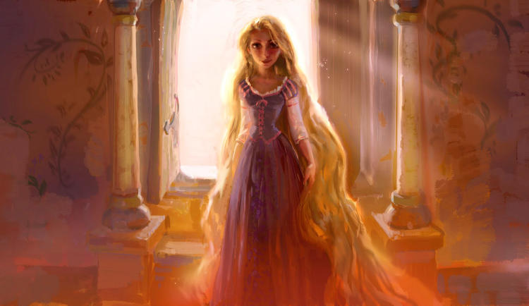 <p><em>Tangled</em> Visual Development painting<br /> Art directed by Dave Goetz, Drawing by Jin Kim, Concept by Claire Keane</p>