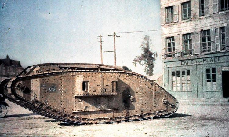 "<p>A British tank from the Mark series in Péronne near Amiens. &quot;The people in the photographs no longer look like they're from another age, they look contemporary,"" editor Peter Walther tells Co.Design.</p>"
