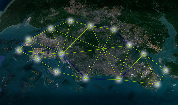 <p>Architects from Barcelona-based design firm JAPA have proposed a new system of looping towers that could float in local harbors, providing new space for year-round crops.</p>