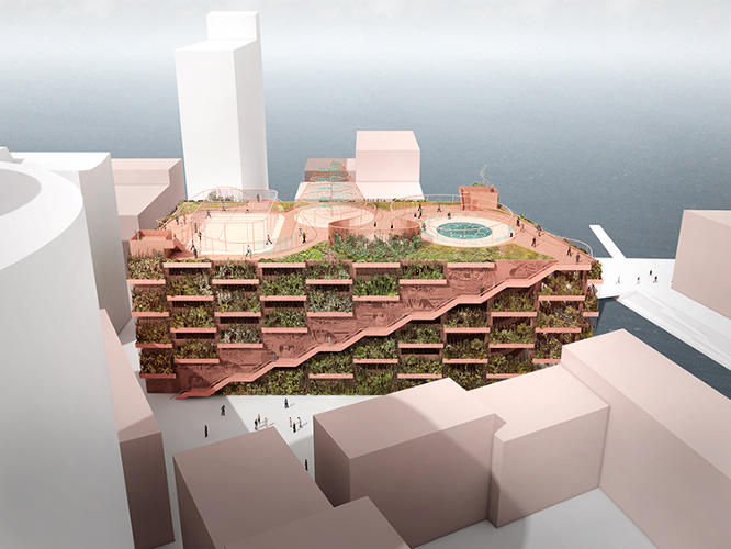 <p>Copenhagen, a city of cyclists, is also getting innovative with its parking garage design.</p>