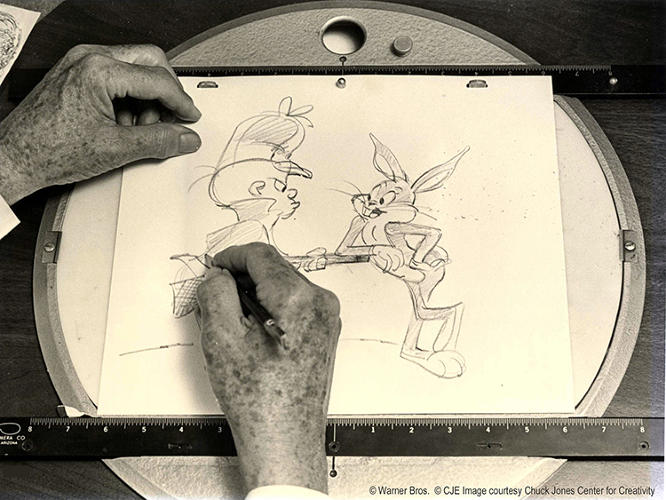 <p><em>The Animation Art of Chuck Jones</em>, a new exhibit at New York's <a href=&quot;http://www.movingimage.us/exhibitions/2014/07/19/detail/whats-up-doc-the-animation-art-of-chuck-jones/&quot; target=&quot;_blank&quot;>Museum of the Moving Image</a>, celebrates his creative genius.</p>