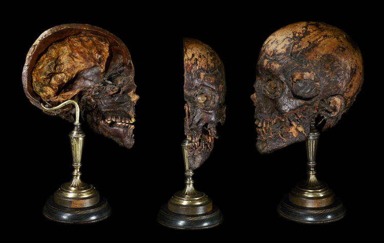"<p>19th century medically mummified head cut in half to show the major vein and arteries, 2012–14</p>  <p>""There's an actual heritage, similar to taxidermy, devoted to the manipulation of bones,"" says Yuzna. ""Ryan discovered this 'exploding skulls' technique created by a Frenchman for medical education. He continued this tradition, got real human skulls, separated them into parts, put them back together and made the armatures for them.""</p>"