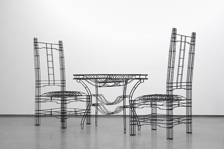 <p>It looks like a wireframe: a digital skeleton of hidden geometry that only becomes a chair after it is turned into physical materials like wood, metal and fabric.</p>
