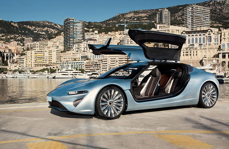 <p>Unlike other electric cars, the new Quant e-Sportlimousine, now under development in Switzerland, never gets plugged in.</p>