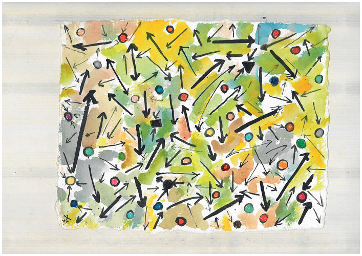 <p>Etel Adnan, writer. A map of Chaos.</p>
