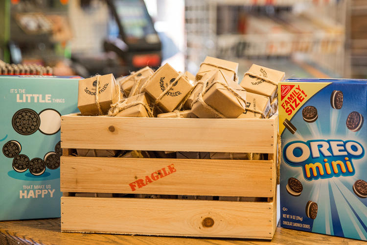 <p>Oreo Minis arrive at the Old Boarding House Mercantile Store.</p>