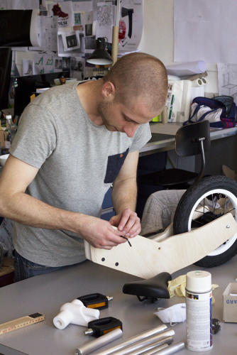 <p>Bhend envisions adding 3-D printed accessories, like a basket, that could be downloaded and made at home.</p>