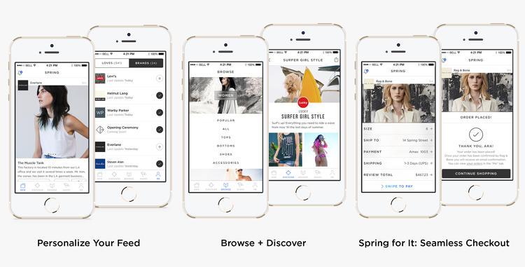 <p>Users can follow about 100 brands, including Alice + Olivia, Rebecca Minkoff and Del Toro, at launch.</p>