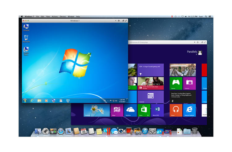<p>Windows 7 and Windows 8 running in Mountain Lion</p>
