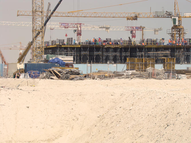 <p>Not that the plans aren't ambitious. Two marinas, two golf courses, a shopping mall, and a zoo are set to rise from the desert sands, along with housing for 450,000.</p>