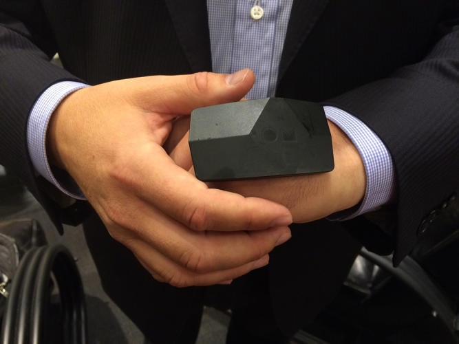 <p>A lightweight black box, meanwhile, contains the battery and Bluetooth technology necessary to transmit data to a branded Ralph Lauren app as well as an accelerometer and gyroscope for tracking steps and activity.</p>