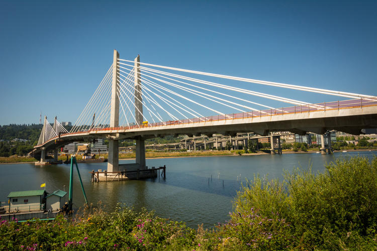 <p>Tilikum Crossing will span over 1,700 feet and will move everything but cars.</p>