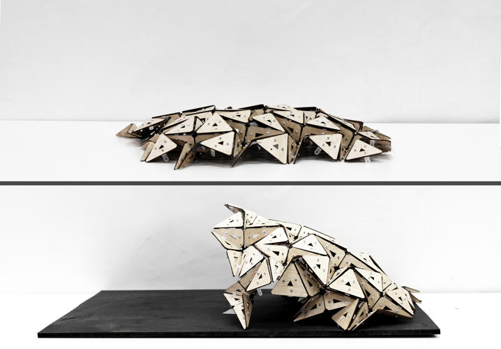This origami inspired office design expands contracts for Arquitectura parametrica pdf