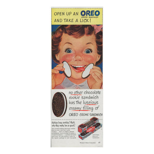 "<p>Ads now include the ""lick"" to consumers' behavior of twisting open the cookie.</p>"