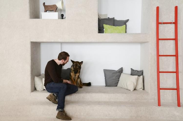"<p>Developer Dan Hunter's decision to join the pet supply subscription company was largely influenced by their pet-friendly policy. He now brings German Shepherd Kayla into their uniquely pet-friendly offices. Editor Laura Hartle says having her dog there is a great stress-relief; Audrey's ""not above soliciting belly rubs and pets from trusted co-workers, who are happy to get in on that cute fuzznugget action.""</p>"