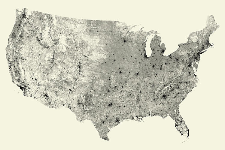 <p>Strip everything off a map except roads, and you'd be surprised that most of the U.S. is still recognizable.</p>