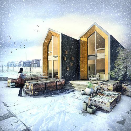 <p>The one-bedroom homes, which can be set up in a single day and moved just as quickly, make use of temporarily vacant land.</p>