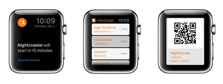 <p><strong>Fandango</strong><br /> <em>Possibilities: </em>Electronic ticketing, notifications of movie times and screenings nearby, quick theater searches.</p>  <p><em>How it will work: </em>Scannable tickets are definitely a must for an app like this, but Passbook, which stores boarding passes, movie tickets, and coupons on the iPhone, will probably have an alternative that's native and ready to use.</p>