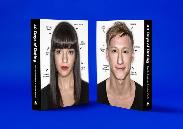 <p>In July 2013, after struggling with opposite relationship problems (fear of commitment vs. love of love), New York-based designer friends Timothy Goodman and Jessica Walsh embarked on a now-infamous experiment: they dated each other for 40 days and recorded their experiences for the whole Internet to see.</p>