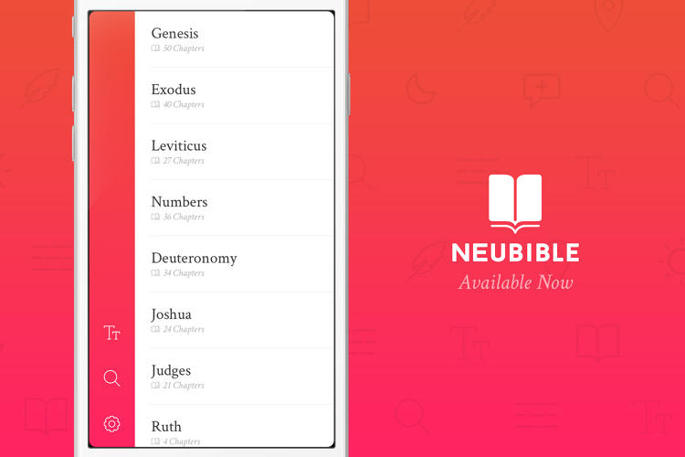<p>The app, <a href=&quot;http://www.neubible.co&quot; target=&quot;_blank&quot;>NeuBible</a>, was released today after months of sketching and development.</p>