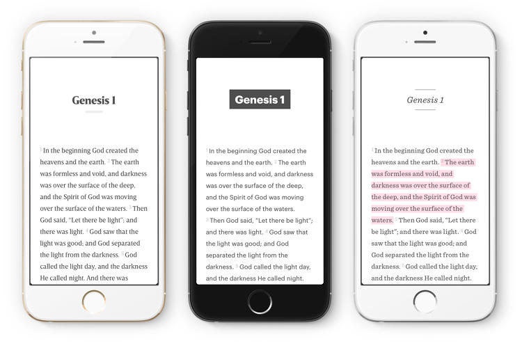 <p>The pared-down structure puts the text front and center. Font choices are modern--no Italicized cursive, here--and the left-side navigation disappears from view while reading.</p>