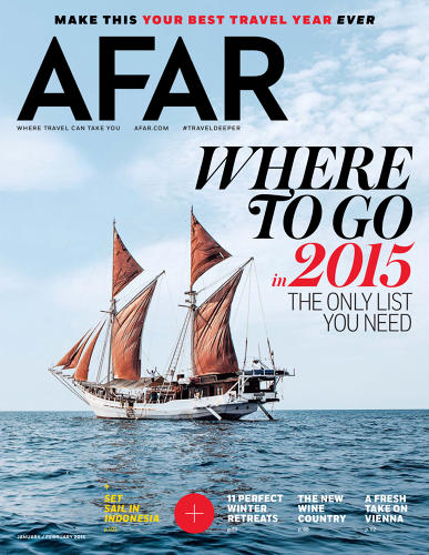 <p>Although it has been published since 2009, Afar magazine's new look was orchestrated by Elizabeth Spirdakis Olson, a 36-year-old creative director who came to the magazine from Bon Appétit. According to Olson, she took the job specifically because she was offered free reign to rip it apart and redesign it from scratch.</p>