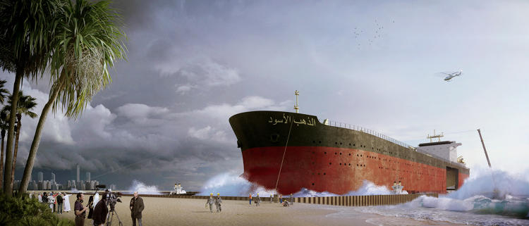 <p>At over 1,300 feet long, some tankers could easily accommodate an entire neighborhood.</p>