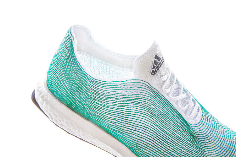 <p>Adidas is knitting the shoe using the same technology they use to create Primeknit shoes with zero waste.</p>