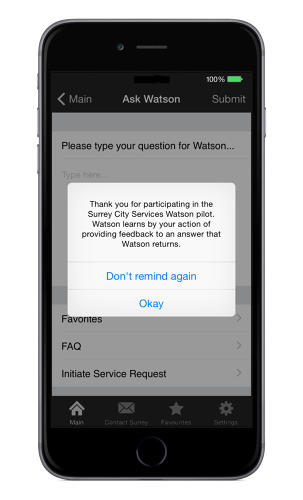 <p>This marks the first time IBM has used the Watson system for a &quot;citizen services&quot; app.</p>