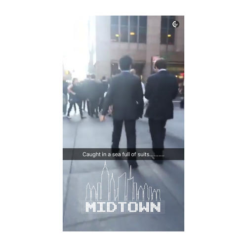 <p>The &quot;New York&quot; live story is one of hundreds of city-based snaps that visitors with location tracking on can submit to. This snap was taken using a midtown filter overlay.</p>