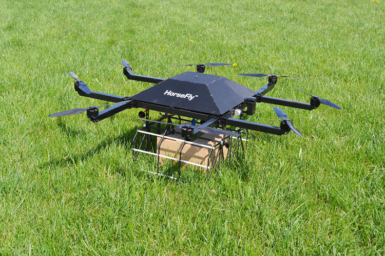 <p>A Horsefly drone is designed for flights of approximately one mile each way, and can carry a 10-pound package.</p>