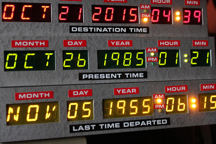 time machine from back to the future