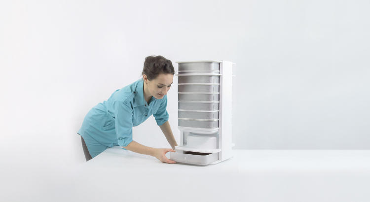 <p>The Edible Insect Desktop Hive is designed to raise mealworms (beetle larva), a food that has the protein content of beef without the environmental footprint.</p>