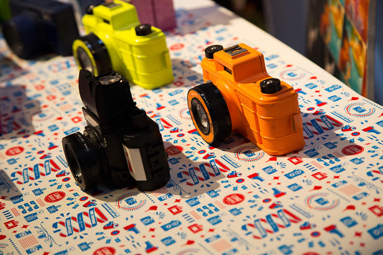 <p>Lomography shows off its DIY cameras.</p>