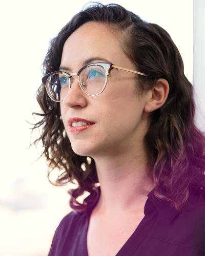 <p>Max Weselcouch, director of analytics communications, who came to the campaign from NYU, where she directed the Moelis Institute for Affordable Housing Policy at the Furman Center.</p>