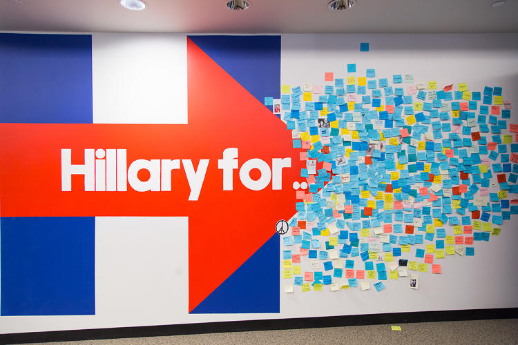 <p>A look inside the Hillary for American campaign headquarters in Brooklyn.</p>