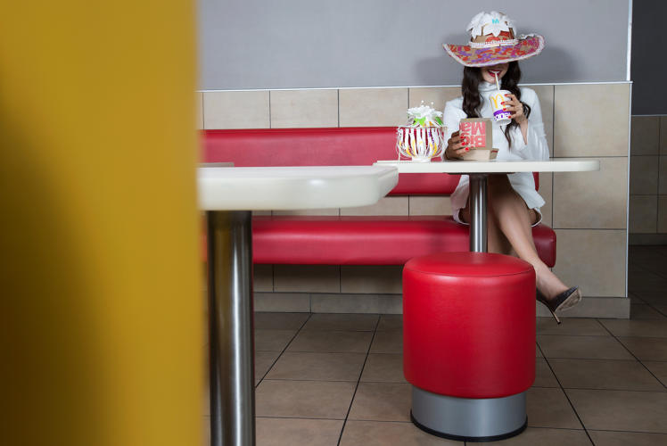 <p>McDonald's celebrated its new global packaging, which is steadily making its way into U.S. and international restaurants, by working with Miami International University of Art and Design students to create accessories using the bags, cups, and boxes that sport the new typographic motif.</p>