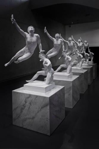 <p>Xu Zhen, <em>Eternity-The Soldier of Marathon Announcing Victory, A Wounded Galatian</em>, 2014<br /> Installation, video, and performance artist Xu is notorious for his critique of both politics and the art world.</p>