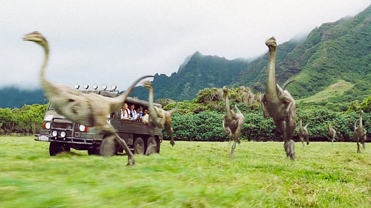 <p><em>Jurassic World</em> assigned motion-capture actors for each raptor, to facilitate improvised and unique signatures of movement. As a nostalgic nod, the Tyrannosaurus Rex contained scars in places where the raptors from the first film would have scratched it. Over 700 of the films 998 shots involved dinosaurs.</p>