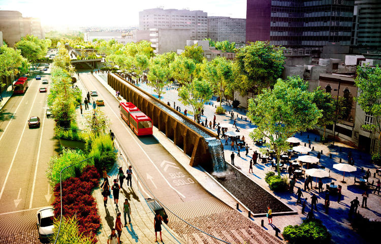 <p>Avenida Chapultepec by FR-EE is a linear park slated for Mexico City.</p>