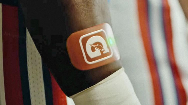<p>Still in development, the sweat patch will analyze a player's sweat type to determine how much sodium and other nutrients they lose during games and training.</p>