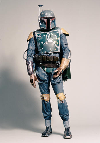 <p>The intergalactic bounty hunter Boba Fett, as he appeared in the original <em>Star Wars</em> trilogy.</p>